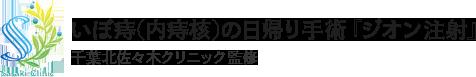 いぼ痔(内痔核)の日帰り手術『ジオン注射』千葉北佐々木クリニック監修
